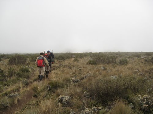 Stefano and Giuseppe march across the plateau
