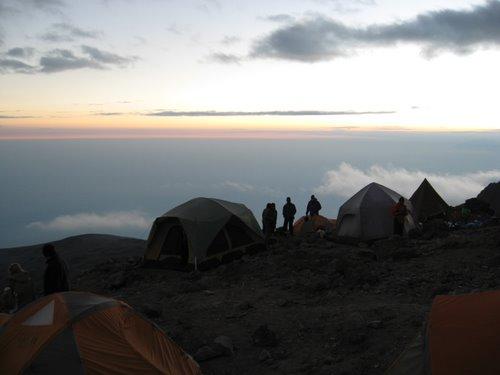 Sunset at Barafu Camp