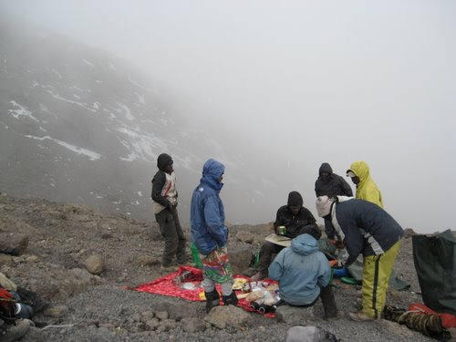 Lunch on the way to the summit