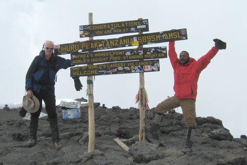 Jon and Hosea at Uhuru summit!
