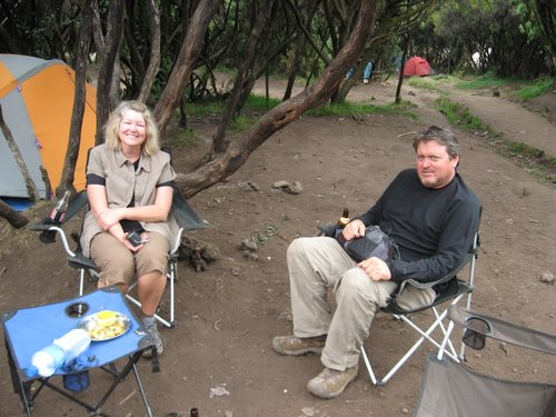 Trish and George at Mweka Camp